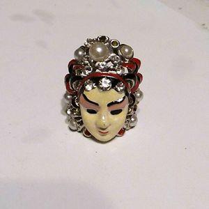 Kabuki Style Adjustable  Ring